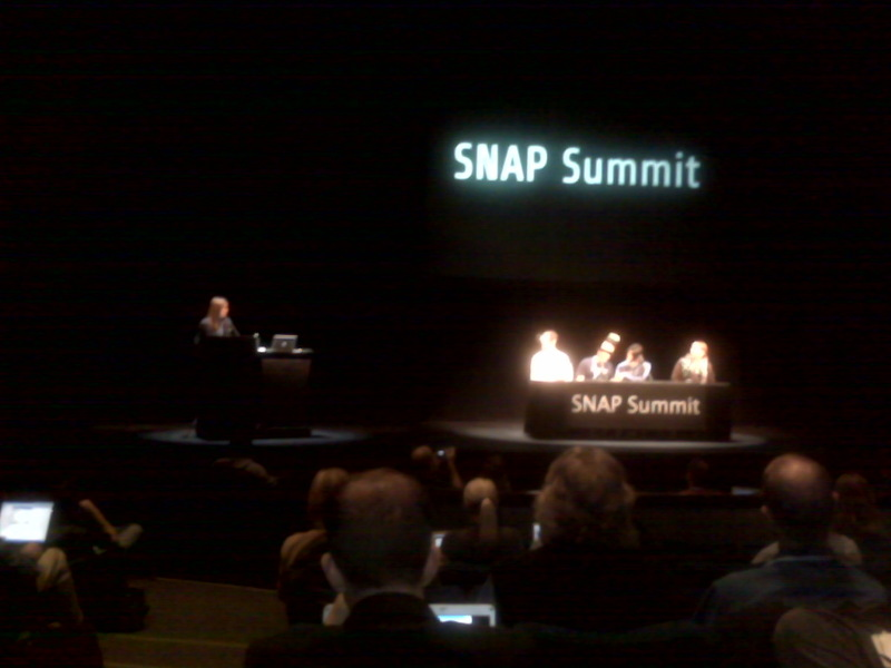 Speaking at SNAP Summit Today